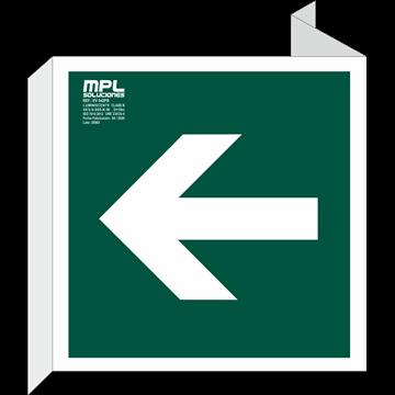 Banderola Cuadrada: Direccion izquierda