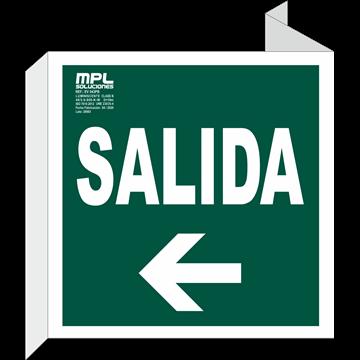 Banderola Cuadrada: Salida izquierda