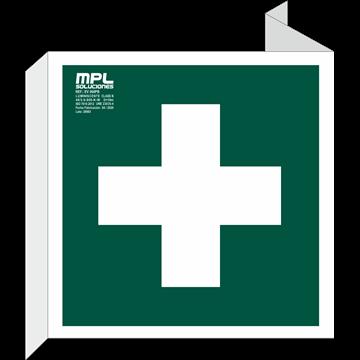 Banderola Cuadrada: FIRST AID BOX