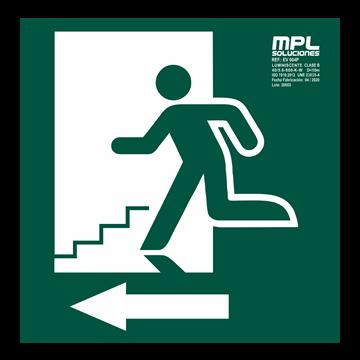 Señal: Escalera de emergencia izquierda