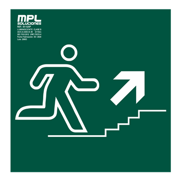 Señal: Subida escaleras derecha