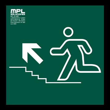 Señal: Subida escaleras izquierda
