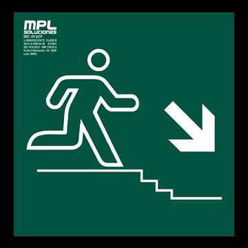 Señal: Bajada escalera derecha