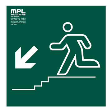 Señal: Bajada escalera izquierda