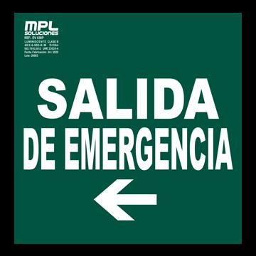 Señal: Salida de emergencia izquierda