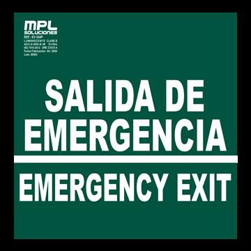 SEÑAL: SALIDA DE EMERGENCIA