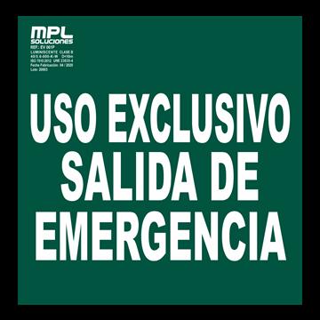 SEÑAL: USO EXCLUSIVO SALIDA