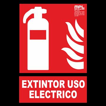 Señal: Extintor uso electrico
