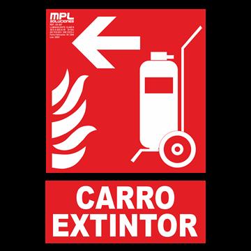 Señal: Carro extintor izquierda