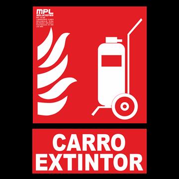 Señal: Carro extintor